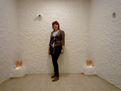 Prof. Alina V. Chervinskaya in Halomed salt room showroom in Budapest