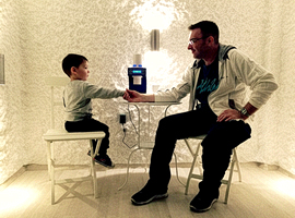 Halomed technology for kids and adults in salt room showroom in Budapest
