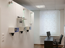 Model range of Halomed halogenerators in salt room showroom in Budapest